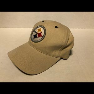 Other - Pittsburgh Steelers tan Velcro strapback hat